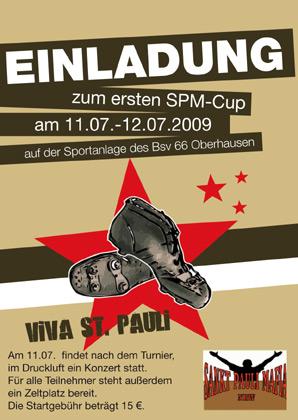Flyer SPM-Turnier Oberhausen
